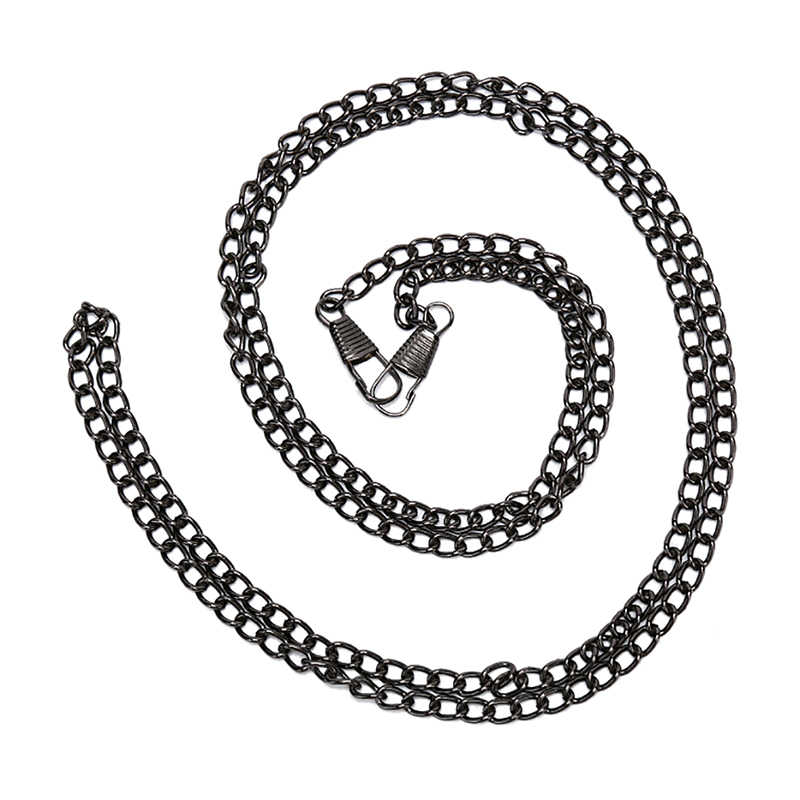 1PC 120 ซม.กระเป๋าถือโซ่โลหะสำหรับกระเป๋า DIY กระเป๋าโซ่หัวเข็มขัดไหล่กระเป๋าสายรัด Handles กระเป๋าอุปกรณ์เสริม