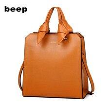BEEP luxury handbags women bags designer leather cowhide leather shoulder bag women tote bag big capacity brand luxury handbag 2018 luxury brand women leather handbag 100