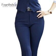 Formal-Pants Work-Wear Long-Trousers Business Office Lady Plus-Size Women Fashion Winter