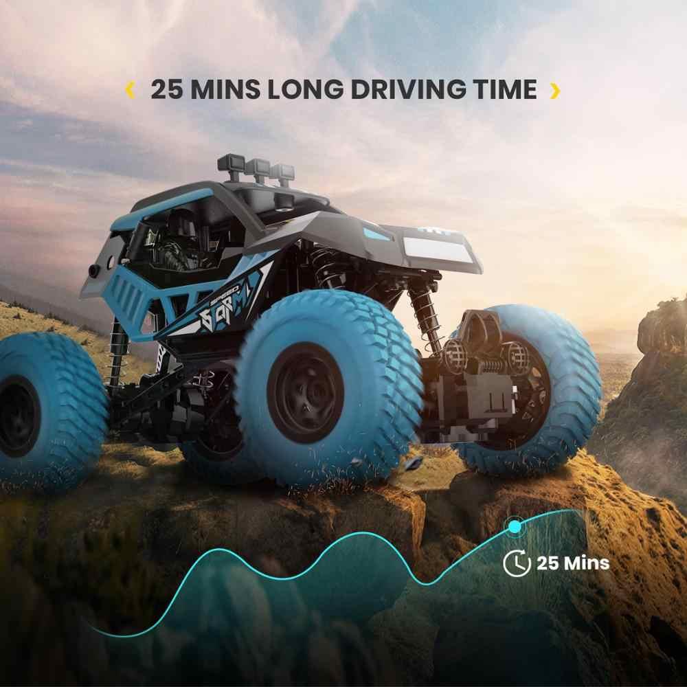 DEERC DE32 RC araba 2.4GHZ uzaktan kumanda araba Offroad kamyon kros kaya paletli araba çocuklar için RC yarış canavar kamyon