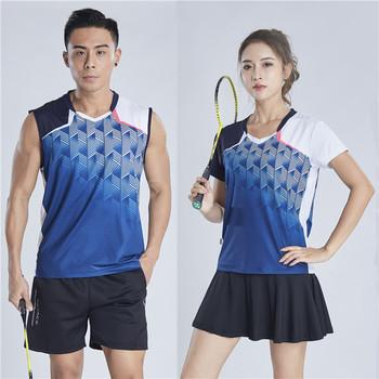 Kobiety i mężczyźni tenis Badminton garnitur szybkoschnące koszulki sportowe krótkie spódniczki oddychające wchłaniające pot Outdoor Active Jersey tanie i dobre opinie LCOCO DREAM Poliester WOMEN Anty-pilling Anti-shrink Przeciwzmarszczkowy Szybkie suche Koszule Pasuje prawda na wymiar weź swój normalny rozmiar
