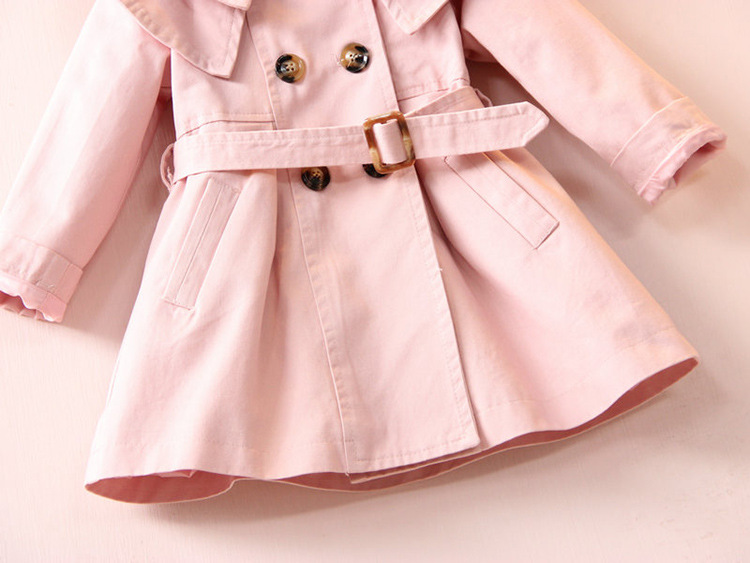 2020 Spring Autumn Girls Windbreaker Coat Jackets Baby Kids Flower Embroidery Hooded Outwear For Baby Kids Coats Jacket Clothing
