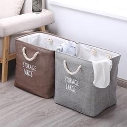 Grande dobrável roupas sujas caixa de armazenamento de lavanderia classificador casa crianças brinquedos saco dobrável cesta de lavanderia do bebê organizador bin