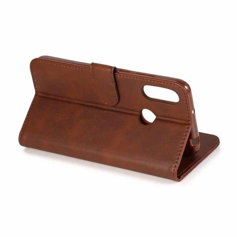 Kılıfları için Huawei Y6 2018 kapak kılıf lüks standı manyetik kapak düz Vintage cüzdan deri telefonu çanta Huawei Y 6 2019 Coque