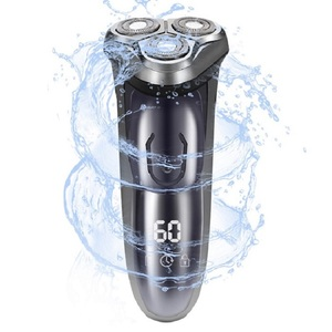 Image 1 - 電気シェーバーかみそりメンズ洗えるusb充電式 3Dスマート制御シェービングあごひげ機防水ロック保護