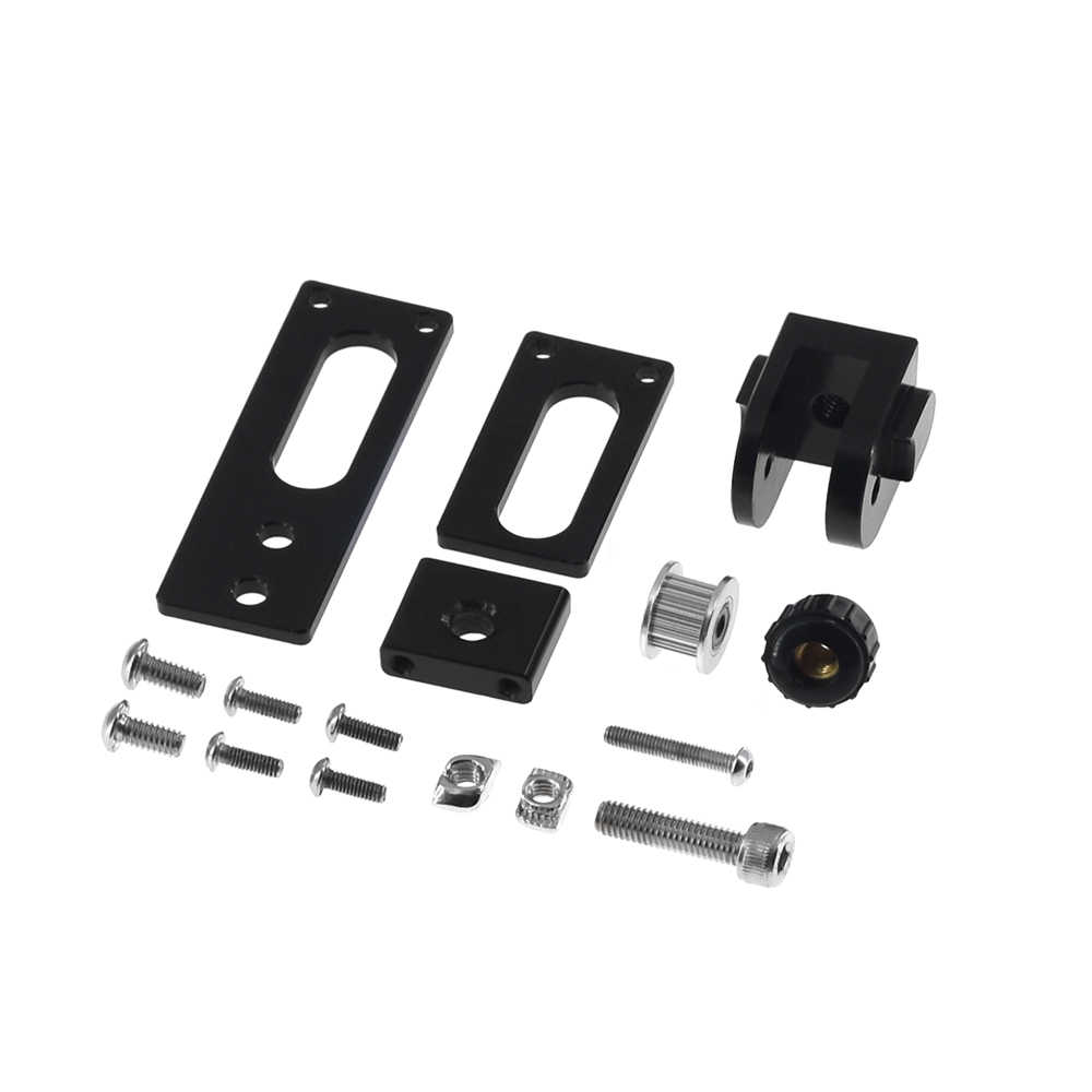 Upgrade 2020 V-Slot Profil Sumbu X Sabuk Sinkron Peregangan Meluruskan Tensioner untuk Creality 3D Printer CR10 CR10S ender 3