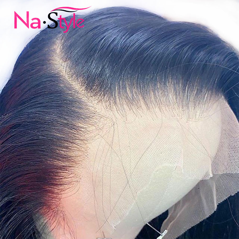 HD Transparent Lace Wigs Preplucked 360 Lace Frontal Wig Invisible Lace Front Wigs Straight 13x6 Lace Front Human Hair Wigs