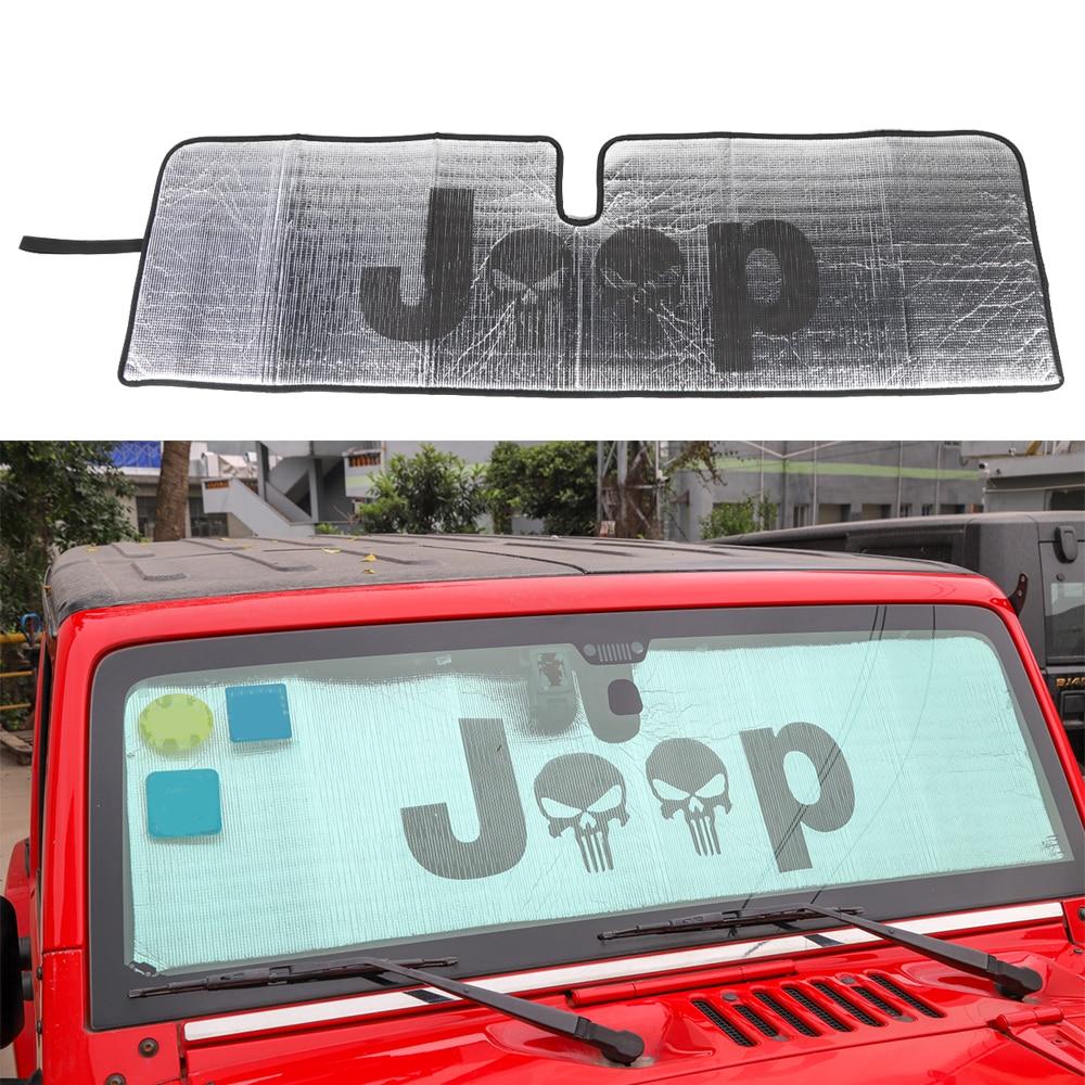 Carro aquecido pára-brisa pára-sol janela do carro pára-brisas capa sun sombra carro-tampas de proteção solar para jeep wrangler jk tj