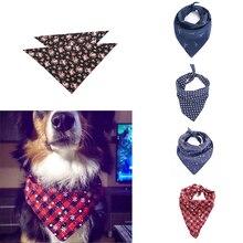 Fashion Dog Bandana Cotton Scarf Bib Flower Grooming Accessories Triangular Bandage Collar For Small Medium Large Pet Design