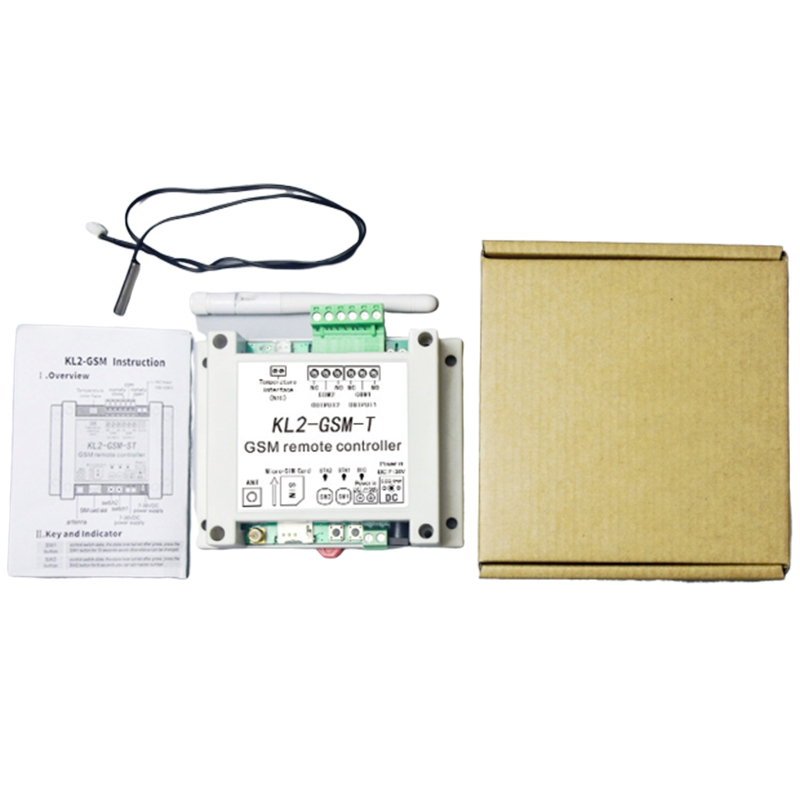 Hot GSM Remote Relay Controller Switch Access Controller With 2 Relay Output One NTC Temperature Sensor