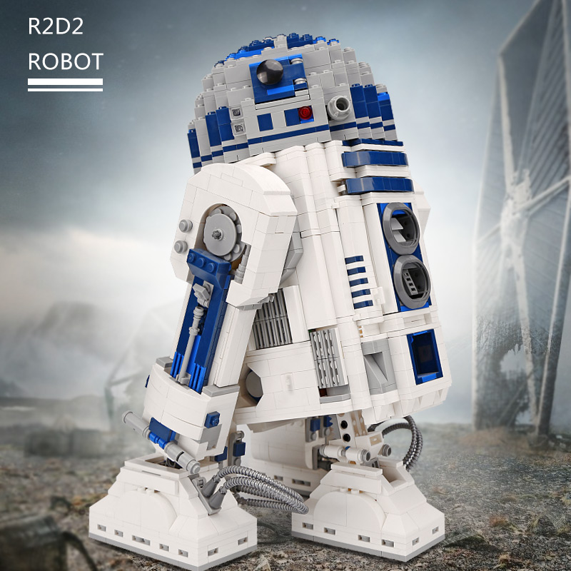 DHL 05043 Star Plan Series The 10225 R2D2 Robot Set Building Blocks Bricks Assembly Kit Toys As New Christmas Gifts For Children-in Blocks from Toys & Hobbies    1