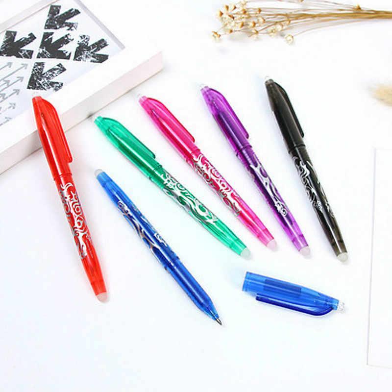 1 sztuk szkoła Ocean niebieski zmazywalny długopis z piórnik napisz łatwe gładkie biuro uczeń pokrowiec na długopis materiały biurowe