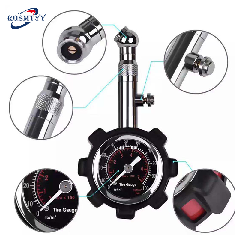 High Accuracy Tire Pressure Gauge Black 100 Psi for Accurate Car Air Pressure Tyre Gauge for Car Truck and Motorcycle New