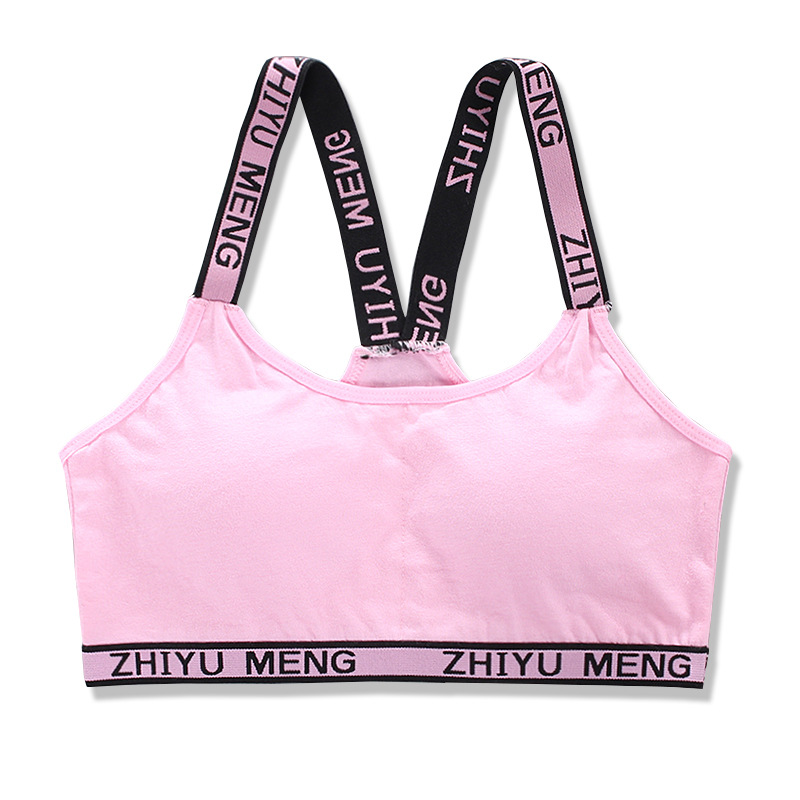 new sports girls bra set Sling Underwear with Chest Pad for Kids Teenager Training puberty bras gift 9-16Y 3