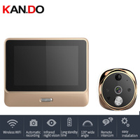 5 Inch Doorbell Viewer Digital Door Peephole Viewer Camera Wireless Wifi Video Doorbell camera IR Night Vision Motion Sensor