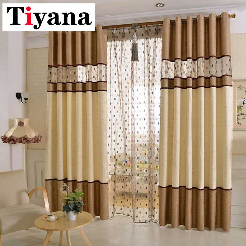 Luxury curtains for bedroom Nest Design Curtains For Bedroom Living Room Endless Stitching Curtain Sheer Window Drapes P221D2