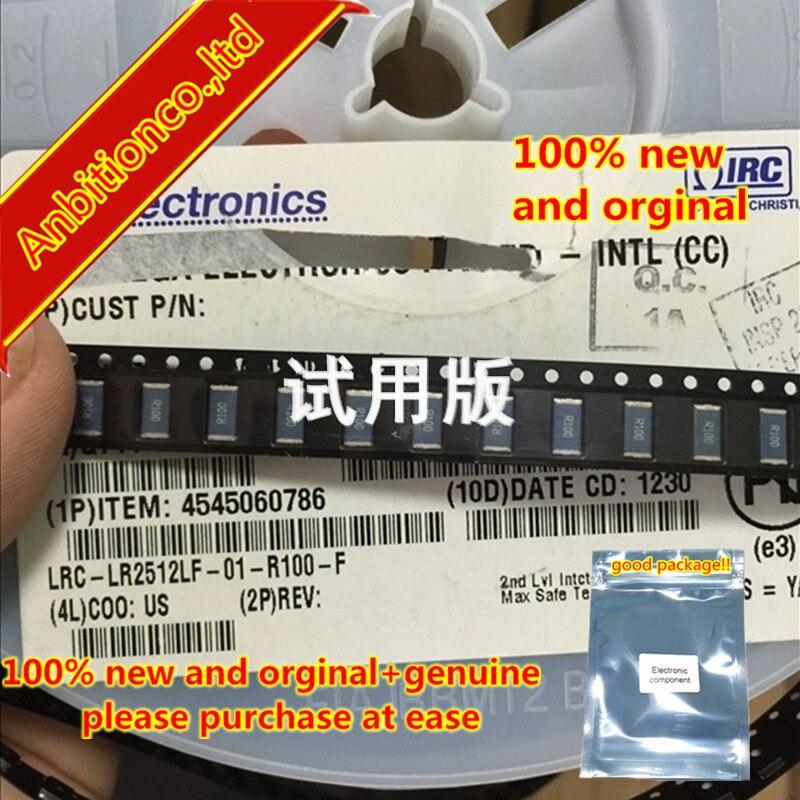 10pcs 100% New And Orginal Ceramic Resistor LRC-LR2512LF-01-R100-F 2W 2512-0.1R 1% In Stock
