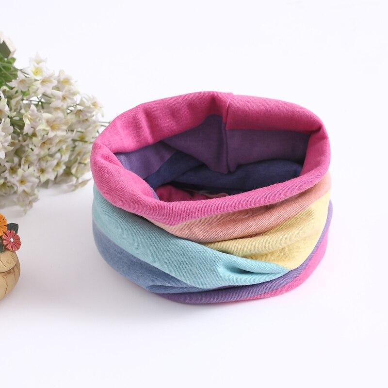 Детский хлопковый шейный шарф с милым принтом; детский теплый шарф; Детские воротники; осенне-зимний шарф-кольцо для мальчиков и девочек; аксессуары для детской одежды