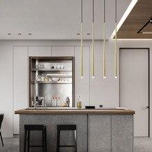 Modern LED Pendant Light Long Tube Pendant lamp Bar Kitchen Suspension lighting office meeting dinning room hotel villa light