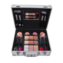 Make Up Lipstick Set Box Professional Makeup Full Suitcase Makeup Kit Sexy Red Makeup Women Matte Lipstick Makeup Brushes Set(China)