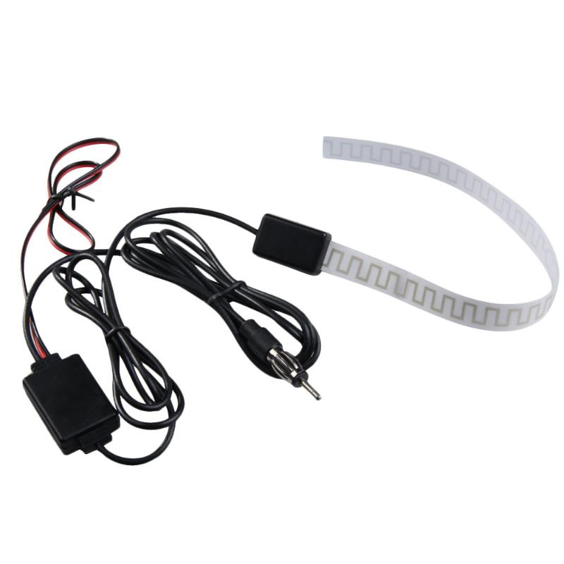 Universal 12V Car Antenna Booster Automobiles <font><b>TV</b></font> Digital DVB-T FM AM Radio Aerial Amp Amplifier image
