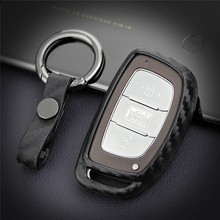 Car Key Case Cover For Hyundai Kona I10 I20 I30 I40 Tucson Creta ix25 Sonata Solaris Veloster 2018 2019 Key Ring Accessories