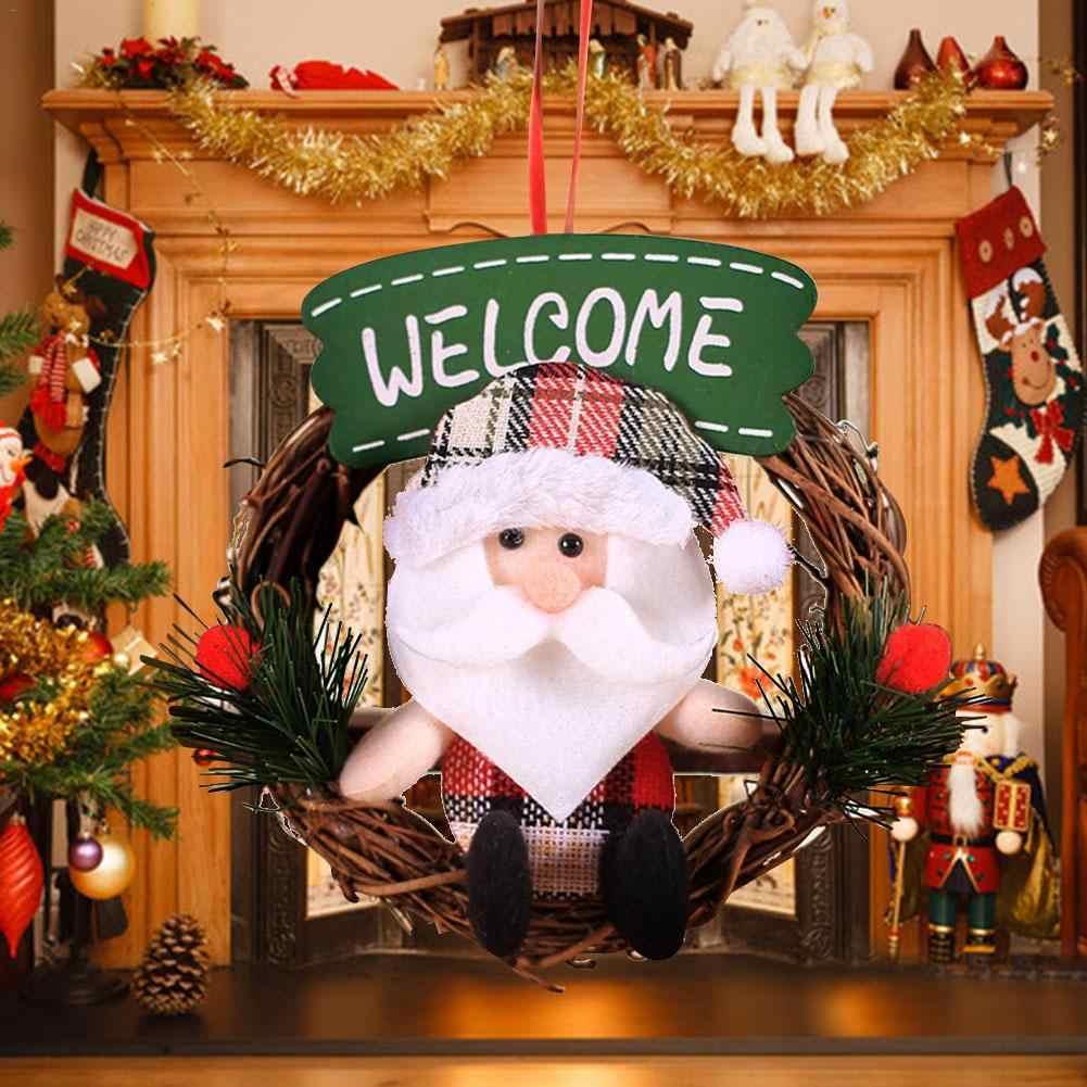 ตุ๊กตาพวงหรีดคริสต์มาสจี้เครื่องประดับตกแต่งต้นคริสต์มาส Elk มนุษย์หิมะเก่าเด็กของเล่นเทศกาล Party แต่งกาย Prop