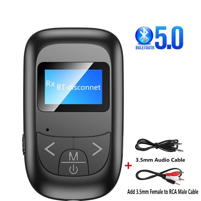 Беспроводной аудио-передатчик со светодиодным экраном, приемник Bluetooth для ПК, ТВ, автомобиля, 3,5 мм, музыкальный передатчик AUX, адаптер Bluetooth 5,...