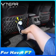 Vtear für Haval F7 F7X sitz pad hintere abdeckung protector anti kick matte auto anti schmutzig pad schützen kissen innen zubehör teile
