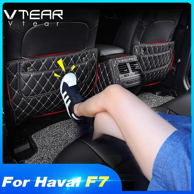 Vtear havalı F7 F7X koltuk pedi arka kapak koruyucu anti kick mat araba anti dirty pad korumak yastık iç aksesuarları parçaları