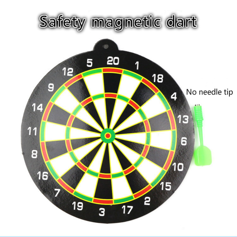 20x0.3cm Magnetic Dartboard Sets Kids Toys Safety Game Plastic Double Side Dart Board Toys For Children Adults Boys Sport Toy
