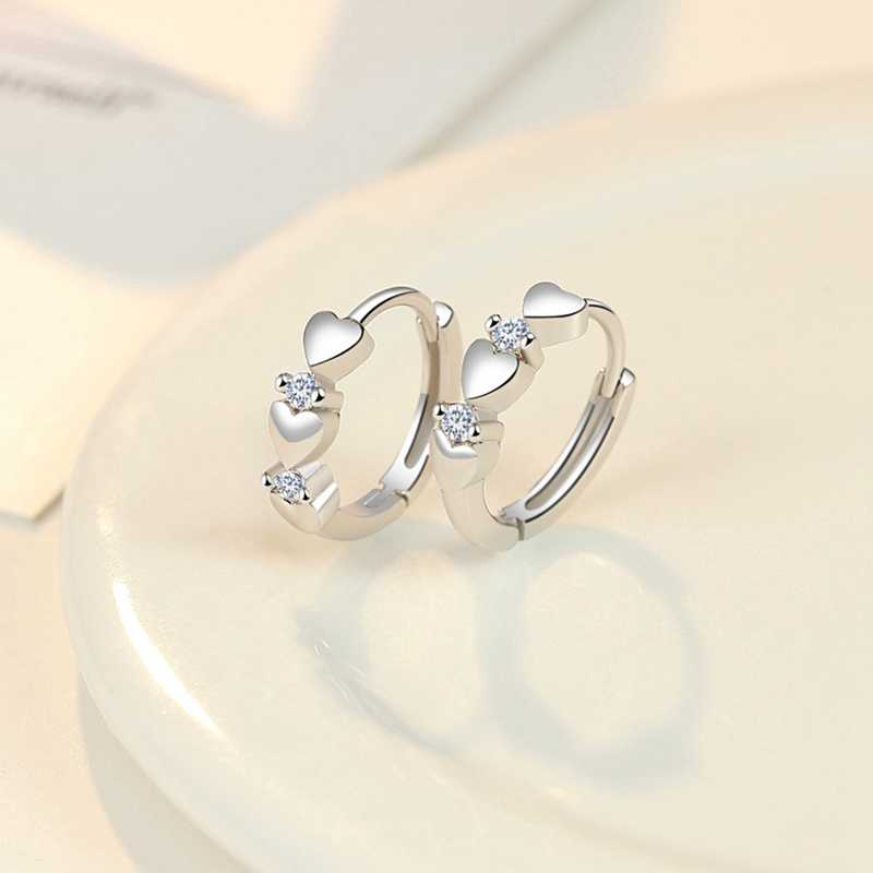 Temperament osobowość w kształcie serca w kształcie serca duży kolczyk cyrkon kolczyki elegancki biały kolor złoty biżuteria dla kobiet Party prezenty