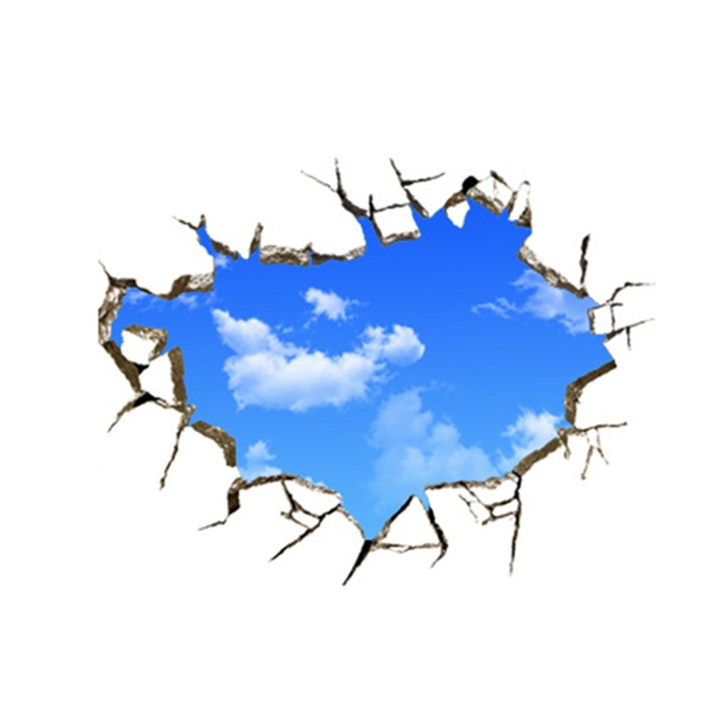 New Creative Blue Sky 3D Stereo Ceiling Living Room Bedroom Wall Sticker