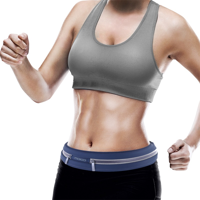 Running Belt Phone Keys Waistband Sweatproof Pouch Belt for Fitness or Travel