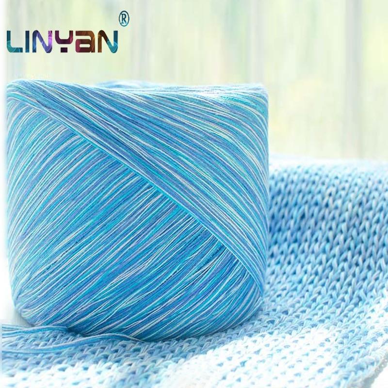 250g 100% Colored Cotton Crochet Hats Yarn For Hand Knitting Yarn Close-fitting Children's Wool Haakgaren Katoen Crochet Zl3