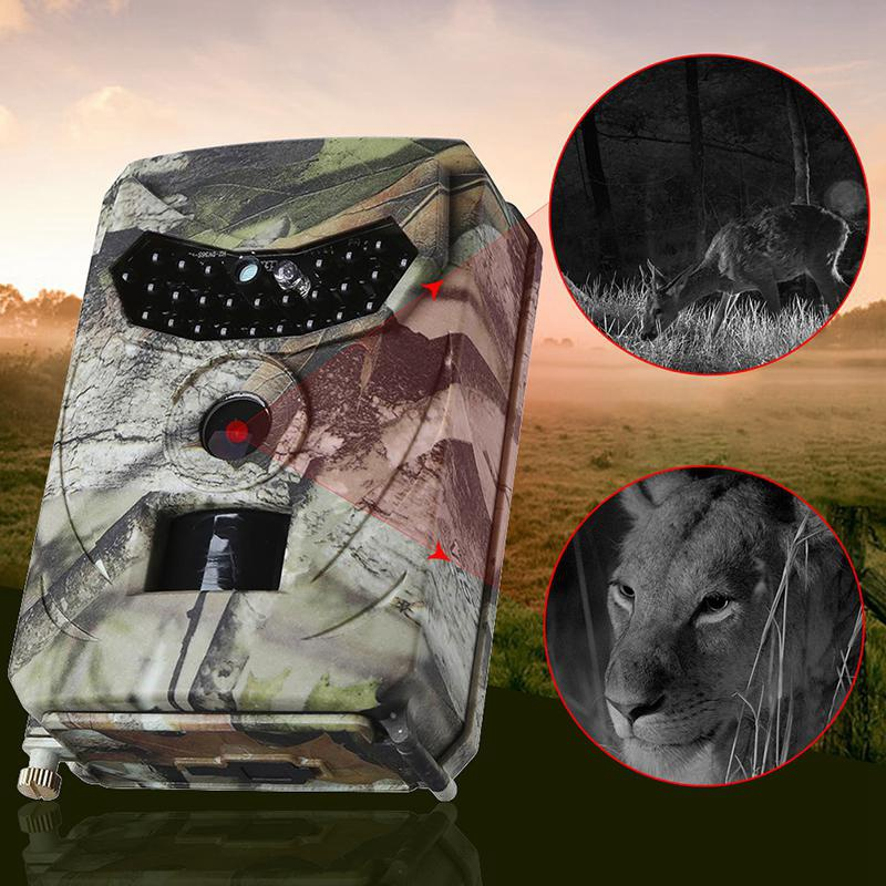 PR100 Hunting Camera Photo Trap 12MP Wildlife Trail Cameras for Hunting Scouting Game