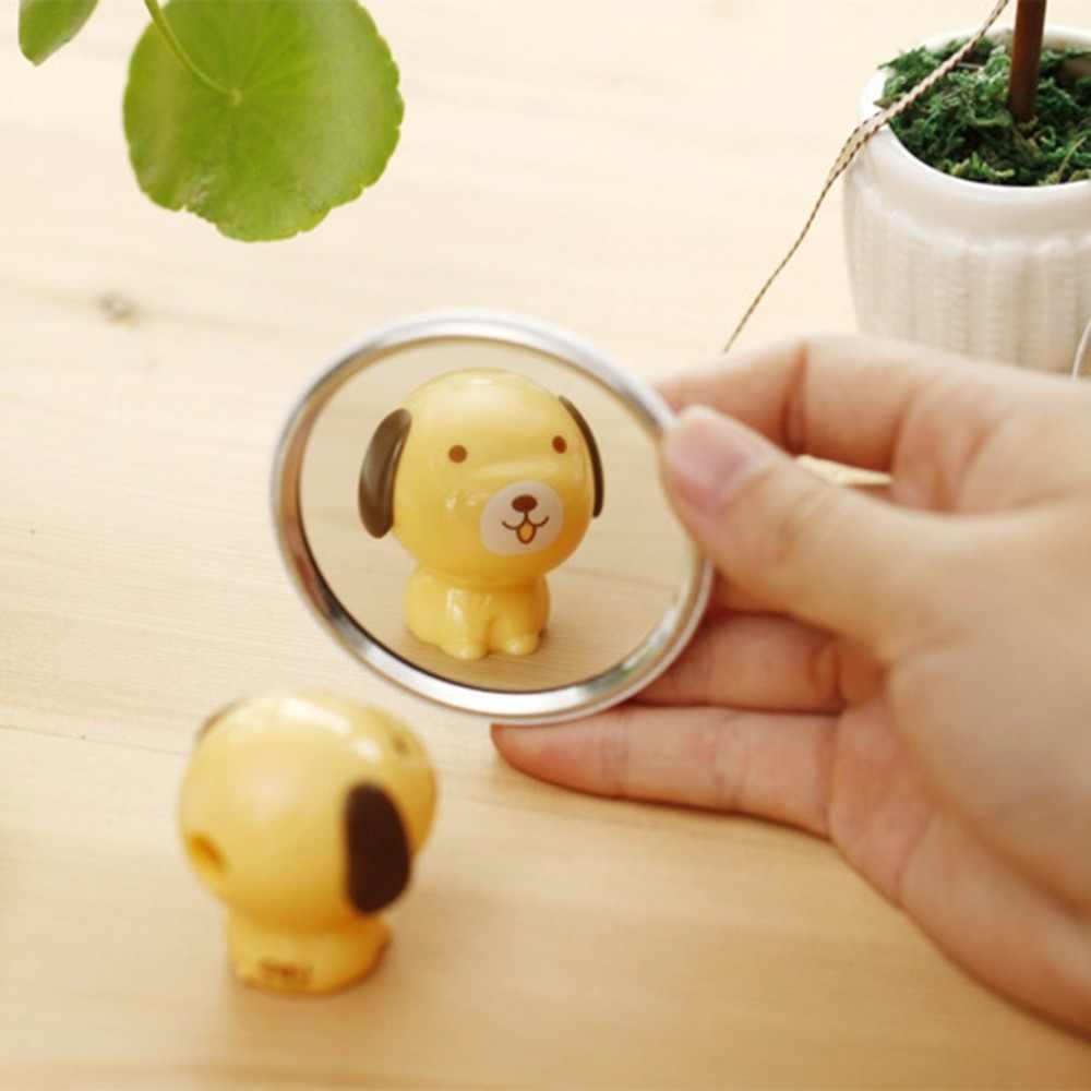 المحمولة حجم جميل الكرتون تصميم مرآة لوضع مساحيق التجميل المدمجة جولة شكل تتحطم واقية المكياج البسيطة مرآة الجمال