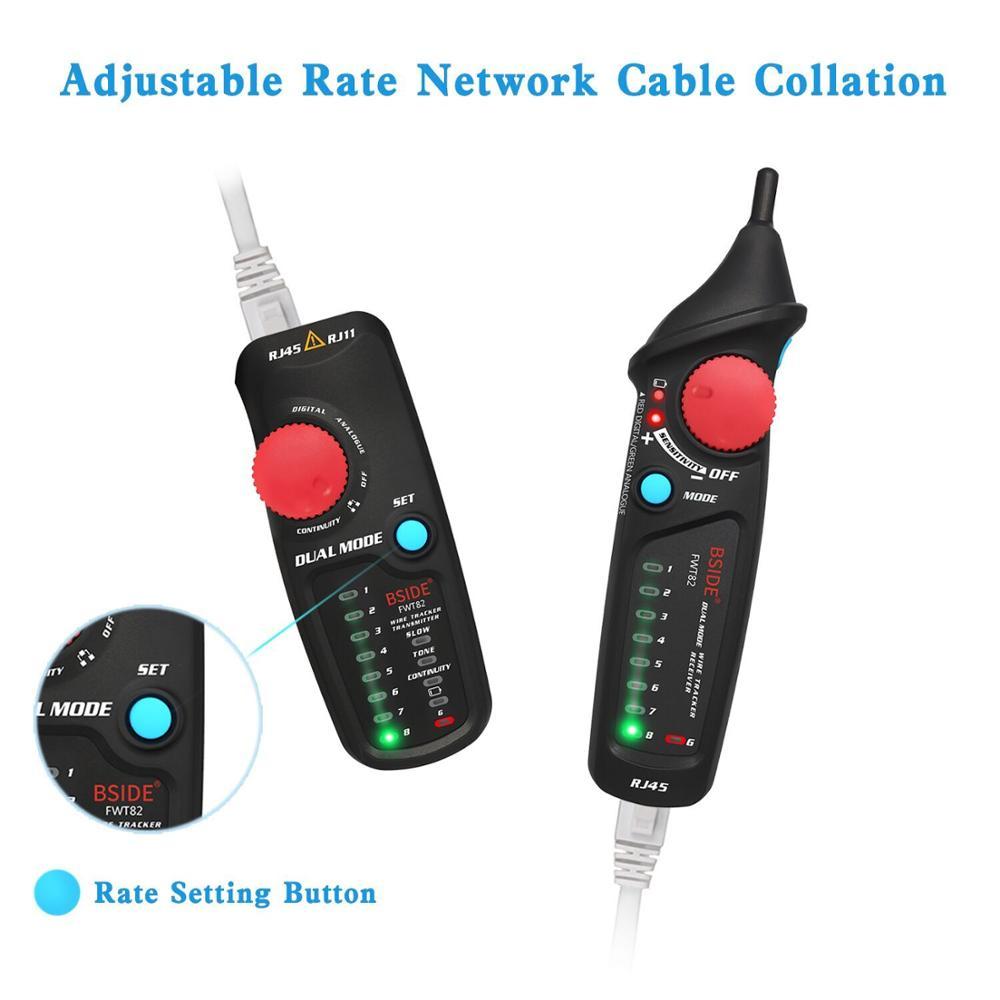 Estink FWT82 Testeur de c/âble r/éseau Trackers de fil Testeur de ligne t/él/éphonique LAN TV Ligne /électrique Finder