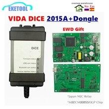 Новинка 2015A + ключ 1999 2019 для VOLVO VIDA DICE 2014D, полный чип, многоязычная зеленая печатная плата, оригинальные чипы EWD, подарок