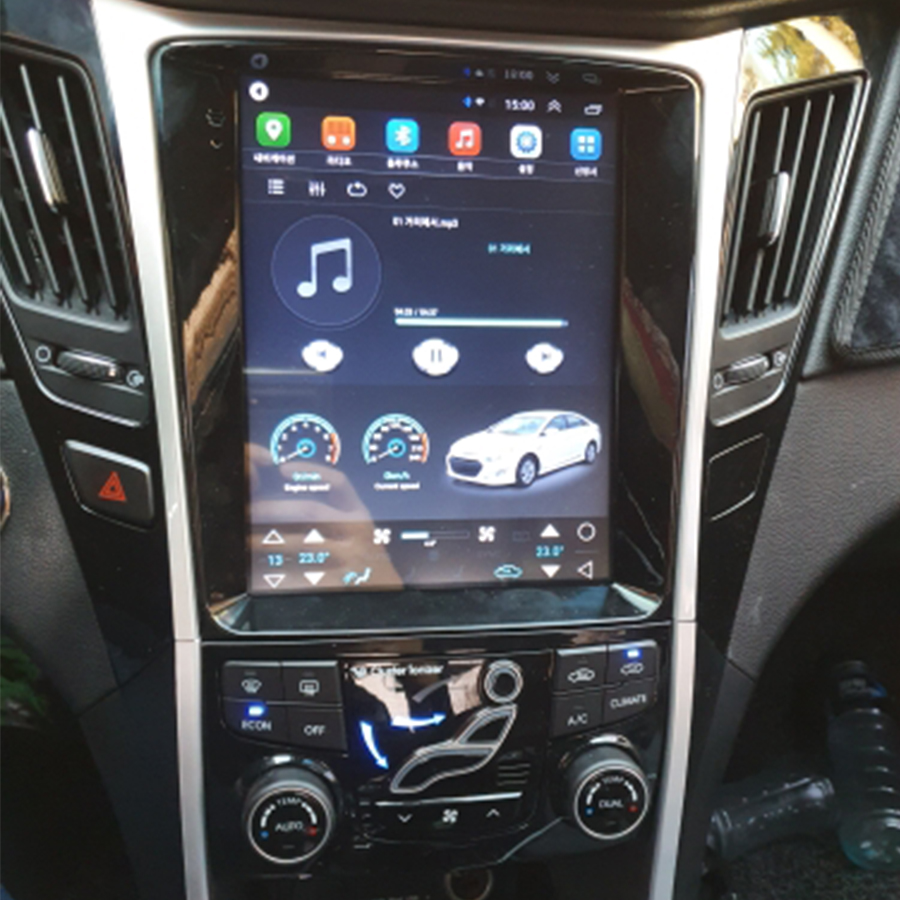 4GB Ram 64GB Rom Android Vertical Screen Car Multimedia Player For Hyundai SONATA 2din Radio USB Bluetooth Tesla GPS NAVIGATION