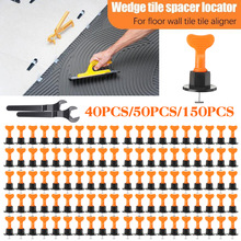 Becornce 100x Alignment Tile Leveling Wedges Tile Spacers System Flat Ceramic Leveler for Floor Wall Construction Tools Locator