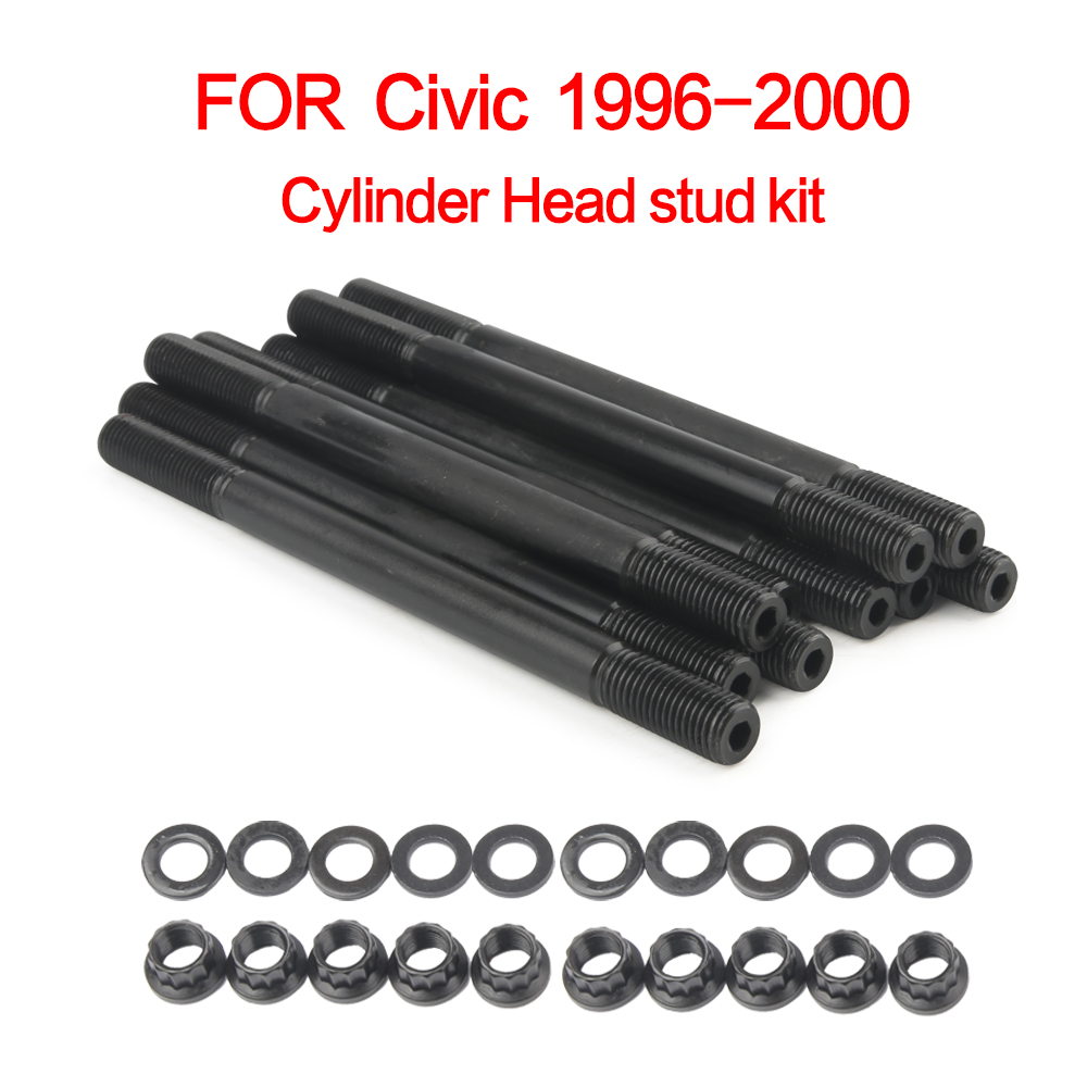 for 208 4305 Cylinder Head stud kit for Honda Civic 1996 2000 D16Y7 D16Y8 SOHC|Cylinder Body & Parts| |  - title=