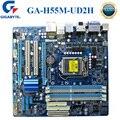 Материнская плата LGA 1156 GIGABYTE  материнская плата для настольного ПК  DDR3  Intel H55  i7  i5  i3  LGA 1156  оригинал  б/у  материнская плата  GA-H55M-UD2H