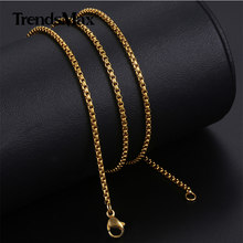 Personalized Width 2mm Round Box Chain Necklaces For Women Men Gold Stainless Steel Necklace Never Fade Wholesale Jewelry KN385(Hong Kong,China)