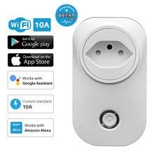 Smart Plug WiFi Presa Brasile Standard Con presa di Alimentazione del Monitor Energy Multi Plug APP di Controllo Funziona Con Alexa Google Assistente