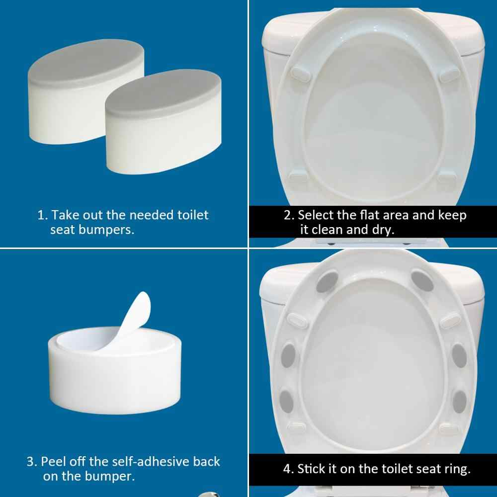 Toilet Seat Cover Gasket Can Solve The Gap After Installing The Bidet Attachment With Strong Self Adhesive Agent 6pcs Aliexpress
