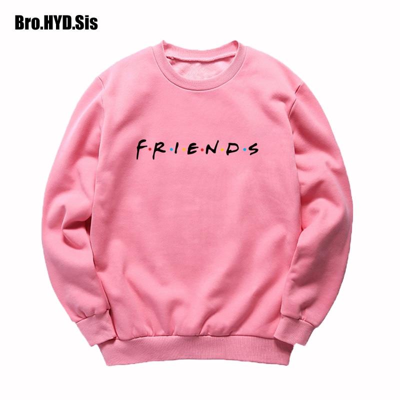 2019 Fall Friends Letter Print Sweatshirt Women Sweats Crew Neck Harajuku Long Sleeve Autumn Female Clothing For Teens Girls