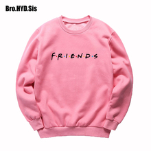 купить 2019 Fall Friends Letter Print Sweatshirt Women Sweats Crew Neck Harajuku Long Sleeve Autumn Female Clothing for Teens Girls дешево