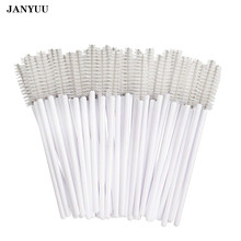 1000Pcs/lot Disposable Micro Eyelash Brushes Mascara Wands Applicator Cosmetic Brushes Comb White Eyelash Extension Makeup Tool