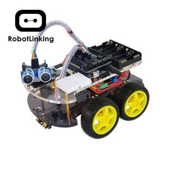 Robot de coche inteligente Kit para Arduino Bluetooth chasis traje de seguimiento Compatible UNO R3 DIY KIT RC electrónico envío gratis